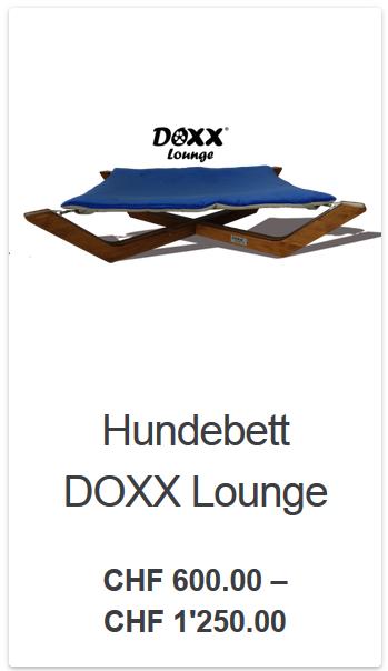 Einzigartiges Hundebett DOXX Lounge Schweizer Handarbeit,